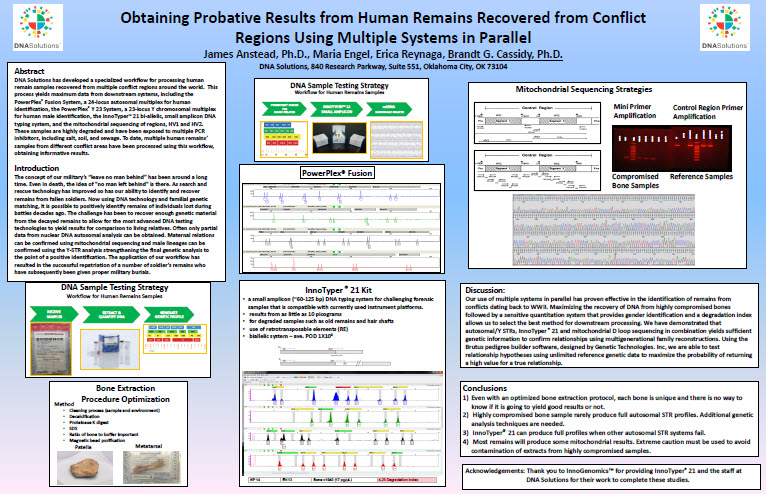 Obtaining Probative Results from Human Remains